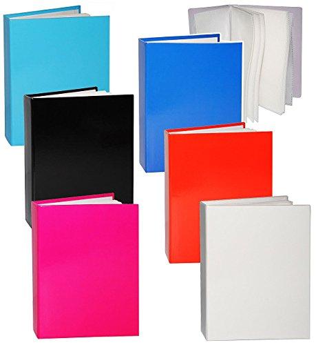 3-stuck-einsteckalbum-einfarbig-bunt-15-x-10-cm-gebunden-zum-einstecken-36-bilder-rosa-rot-weiss-sch