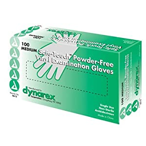 Safetouch Powder Free Vinyl Exam Gloves, Non-Sterile by DYNAREX