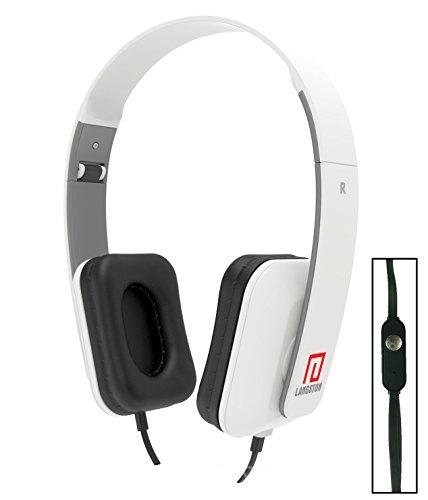 Langston ® Mediacom SmartPad 10.1 HD iPro111 / Mediacom SmartPad i10 3G Tablet Weiß Deep Bass Faltbare HD Kopfhörer (iM-8) mit Mikrofon und Fernbedienung