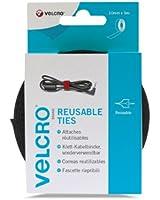 Velcro VEL-EC60253 - Fascette riutilizzabili 10 mm x 5 m, colore: Nero
