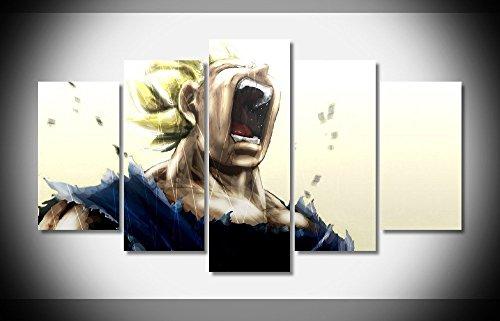 vegeta-dragon-ball-z-anime-poster-imprime-sur-toile-en-5-pieces