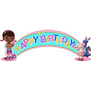 Doc McStuffins Happy Birthday Banner 3-piece 5 Feet Long