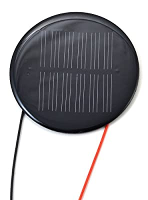 Small Round Solar Panel 3.0V 100mA with wires