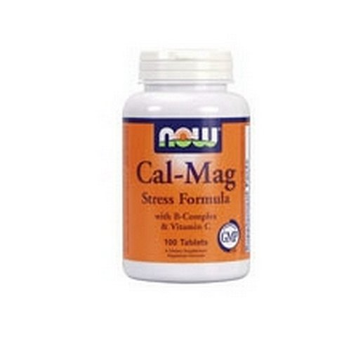Now Foods Cal-Mag Stress Formula, With B-Complex & Vitamin C, 100 Tablets (Pack Of 2)