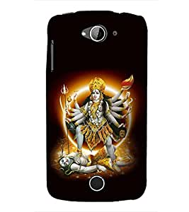Fuson Premium Maa Kaali Printed Hard Plastic Back Case Cover for Acer Liquid Z530