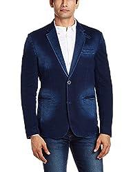 Celio Men's Regular Fit Blazer (3596654289757_IDUTINTAINDIGO_46_Indigo)