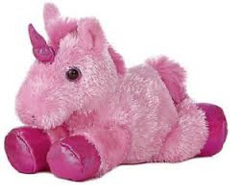 "Aurora 8"" Mini Flopsie Plush Unicorn - Pink - 1"