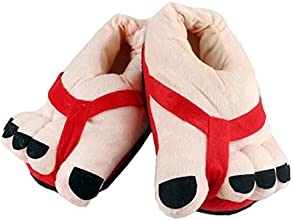 Moolee Women Funny Big Feet Warm Slippers Winter Toes Plush Soft Shoes Novelty Gift One Size