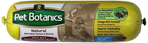 Cardinal Laboratories Pet Botanics Whole Grain Rolled Dog Food, 6-Pound, Beef And Bacon