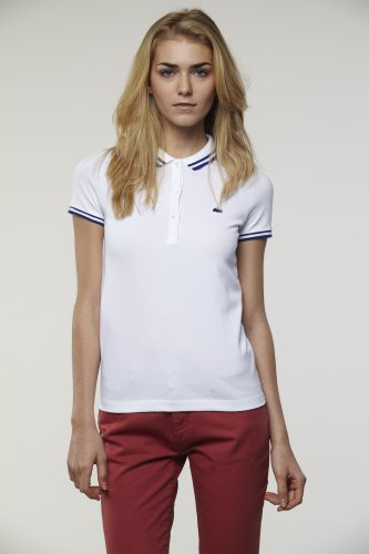 L!VE Short Sleeve Tipped Stretch Pique Polo