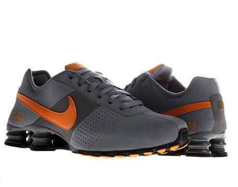 orange and black nike shox