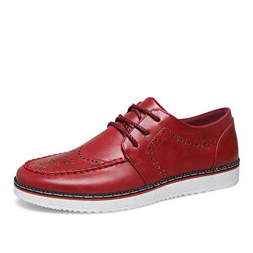 Semplice moda scarpe Brock intagliato all'inizio dell'estate/Scarpe casual business britannico/ pop Maschio Scarpe-C Lunghezza piede=26.8CM(10.6Inch)