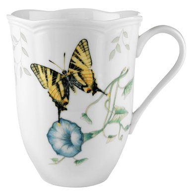 Lenox Butterfly Meadow Bone Porcelain Tiger Swallowtail Mug
