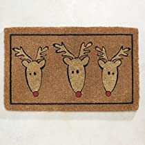 Doormat Gift Shop - Reindeer Coir Doormat-Christmas from astore.amazon.com