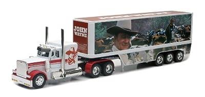 John Wayne Peterbilt Die Cast Semi-Truck Tractor and Trailer Hauler Set