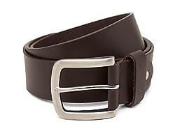Breakbounce Men's Leather Belt (8907066080088_Medium_Brown)