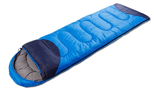 Anita Outdoor Thickened Ultra Light Can Be Spliced Sleeping Bag (Blue 2.98Ib, (74.8″+11.8″)*29.5″)