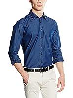 Hackett London Camisa Vaquera (Azul Oscuro)