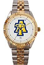 North Carolina A&T State University Aggies Mens Executive Stainless Steel Watch