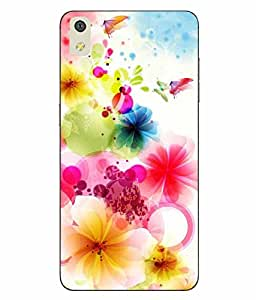 Case Cover Butterfly Printed Multicolor Hard Back Cover For LYF WATER 8