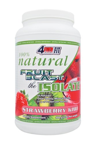 4Ever Fit Fruit Blast Natural Isolate, Strawberry Kiwi , 2 Pounds