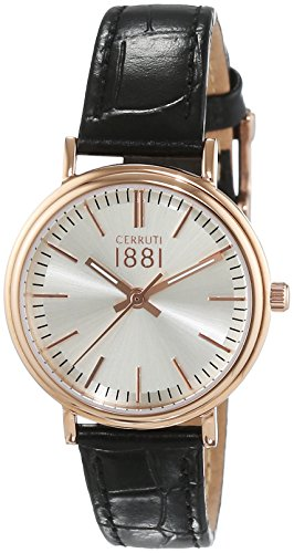 Fabriano Cerruti 1881 Women's Watch Analogue Quartz Leather CRM11 1SR04BK