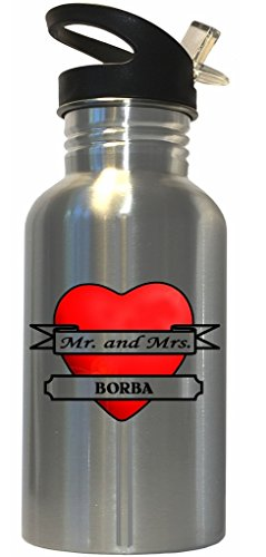 Mr. and Mrs. Borba - Stainless Steel Water Bottle Straw Top (Borba Water compare prices)