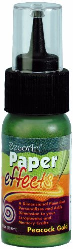 Paper Effects Paint 1oz Squeeze Bottle-Peacock Gold