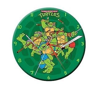 Teenage Mutant Ninja Turtles Cordless Wood Wall Clock