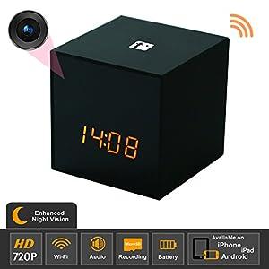 Titathink TT531W-N Enhanced Night Vision HD 720P Wifi Covert Hidden Nanny Spy Clock Network camera