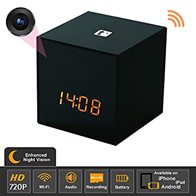 Titathink TT531W-N Enhanced Night Vision HD 720P Wifi Covert Hidden Nanny Spy Clock Network camera by Titathink