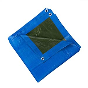 JAROLIFT Abdeckplane - Gewebeplane / 4 x 8 m / Polyethylen-Gewebe 260 g/qm / blau-grün