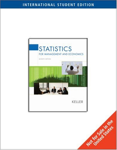 Statistics for Management and Economics (7th International Edition )