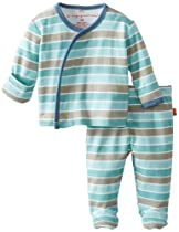 Magnificent Baby Baby-Boys Newborn Long Sleeve Kimono Top and Pants, Zoom Stripes, Premie