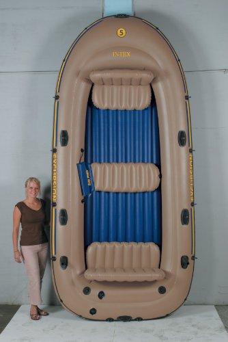 Disaster survival intex excursion 5 boat set for Wood floor intex excursion 5