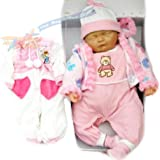 """New Born 18"""" Sleeping Soft Bodied & Vinyl With Outfit & Box Girls Toy + Free Spare Outfit Baby Doll"""