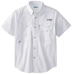 Columbia Sportswear Boy's Bonehead Short Sleeve Shirt (Youth), White, XX-Small