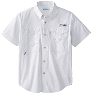 Columbia Sportswear Boy's Bonehead Short Sleeve Shirt (Youth), White, XX-Small