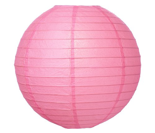 "WeGlow International 8"" Deluxe Paper Lantern - Pink (3 Pieces)"