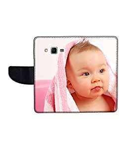 KolorEdge Printed Flip Cover For Samsung Galaxy Win 2 Multicolor - (1476-45KeMLogo10579SamWin2)