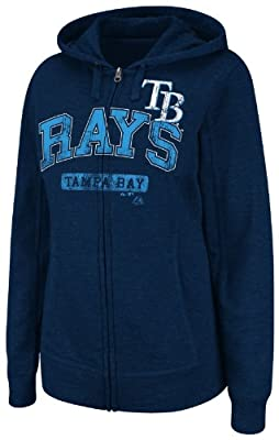 MLB Tampa Bay Rays Real Flava Long Sleeve Full Zip Hoodie Women's