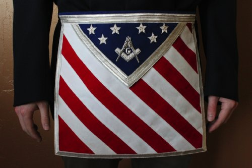 Blue Lodge Patriotic Masonic Square Compasses Apron