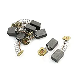 Uxcell a13090300ux0223 Carbon Brushes for Tajima Angle Grinder, 11mmx9mmx6mm, 7pcs, Gold Tone, ,