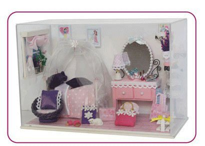 Big Dollhouse Miniature Diy Wood Frame Kit With Light Model Sweet Promise Gift Ldollhouse49-D84