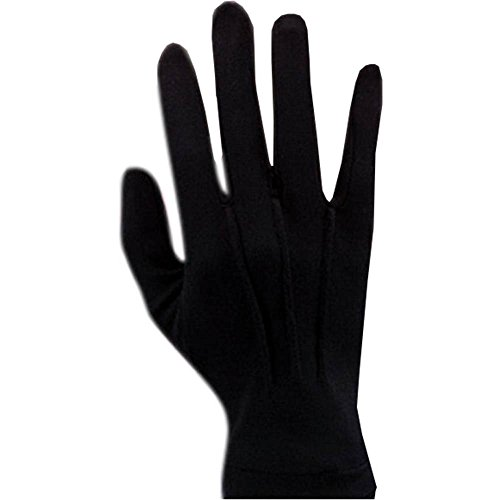 Black Nylon Adult Men's Gloves