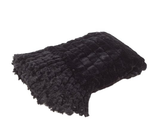 Scene Weaver Journey Faux Chinchilla Throw, 50 By 70-Inch, Black front-228525