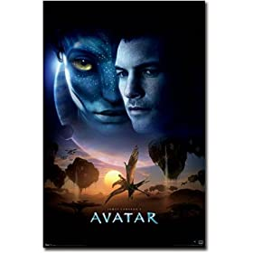 Avatar Movie (Faces, Scene) Poster Print - 24x36 Poster Print, 22x34