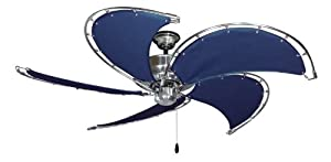 Raindance Nautical Ceiling Fan In Brushed Steel With 52