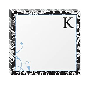 "Post-it Notes, Super Sticky Pad, 3 1/4"" x 3 1/2"", Monogram ""K"", 75 Sheets per Pad, 2 Pads per Pack (6335-K2-BC)"