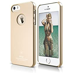 elago S5 Slim Fit Case for iPhone 5/5S + Logo Protection Film included- eco friendly Retail Packaging (Soft Feeling Champagne Gold)